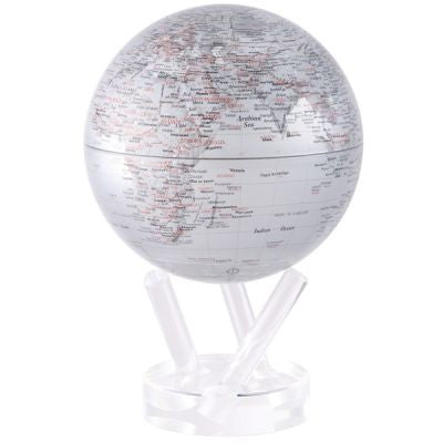 MOVA Silver Earth Rotating Globe