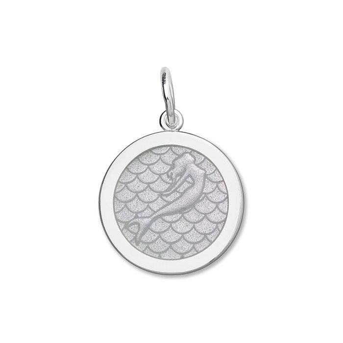Alpine White Mermaid Pendant in Sterling Silver 27mm - Silverscape Designs