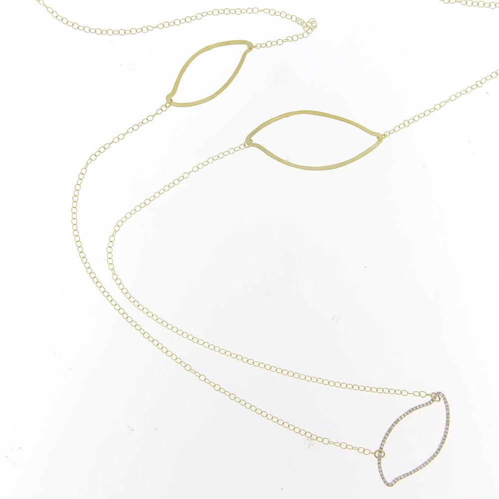 Meira T Designs Gold & Diamond Long Necklace