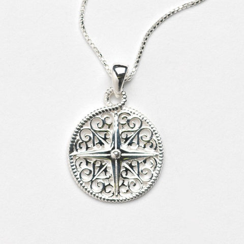 Southern Gates Compass Necklace - Silverscape Designs