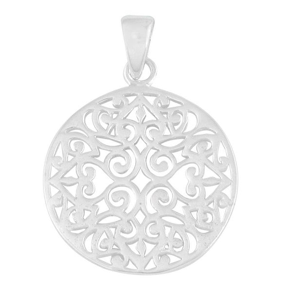 Southern Gates Small Original Round Scroll Pendant