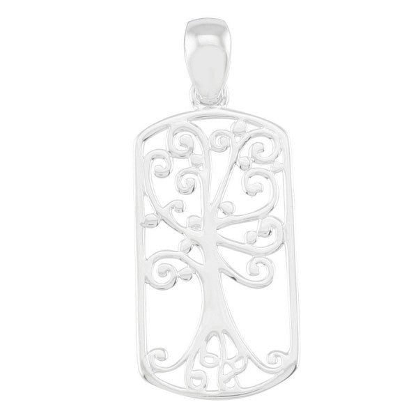 Southern Gates Rectangular Oak Tree Pendant