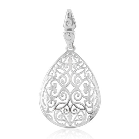 Southern Gates Small Teardrop Scroll Pendant