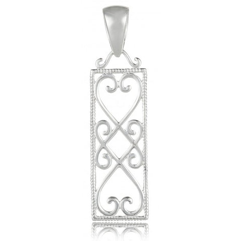 Southern Gates Rectangular Heart Pendant