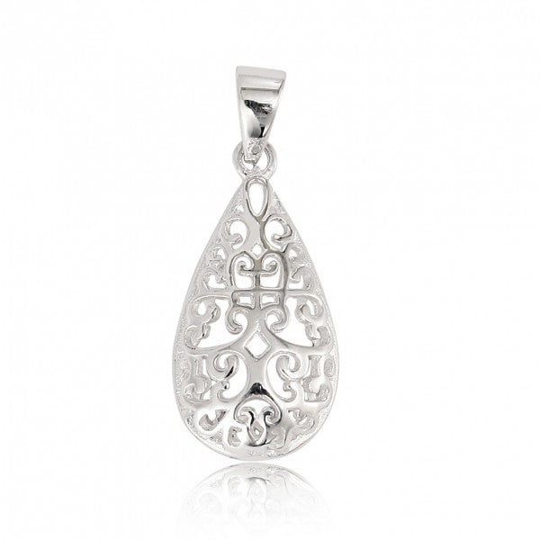 Southern Gates Teardrop Scroll Pendant - Silverscape Designs