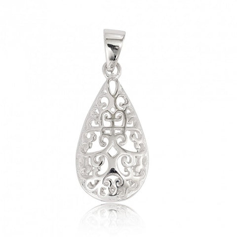 Southern Gates Teardrop Scroll Pendant