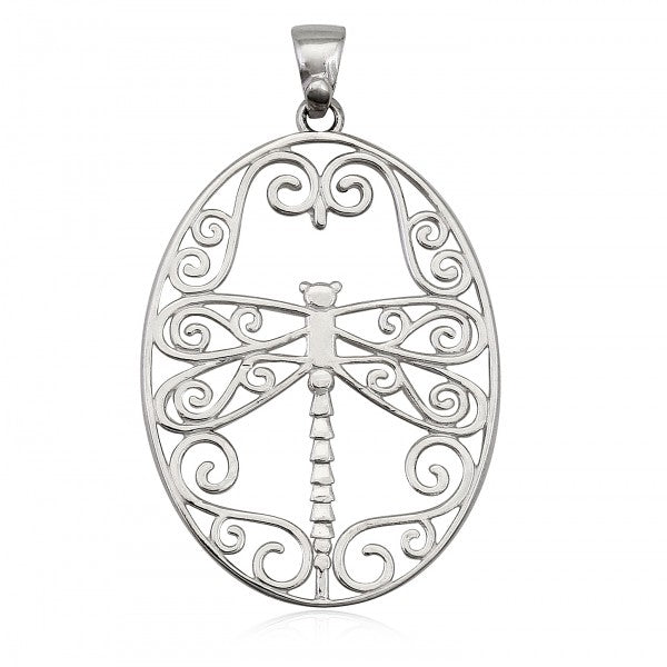 Southern Gates Large Drangonfly Pendant - Silverscape Designs