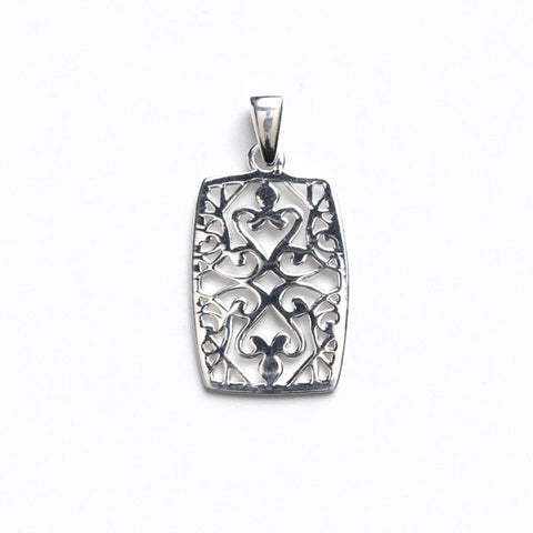 Southern Gates Barrel Shaped Scroll Pendant