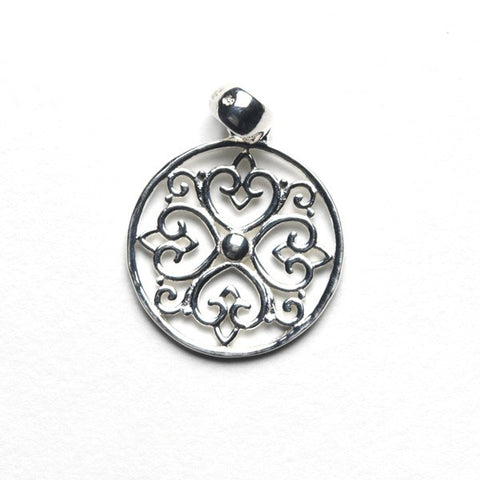 Southern Gates Round Heart Design Pendant