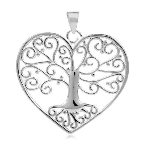 Southern Gates Tree Heart Pendant - Silverscape Designs