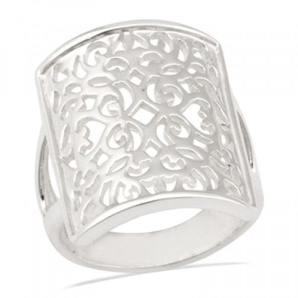 Southern Gates Rectangle Scroll Ring - Silverscape Designs