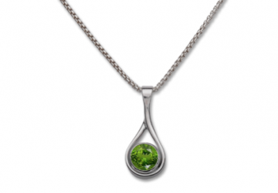 Desire Bezel Stone Necklace (5 stone options) - Silverscape Designs