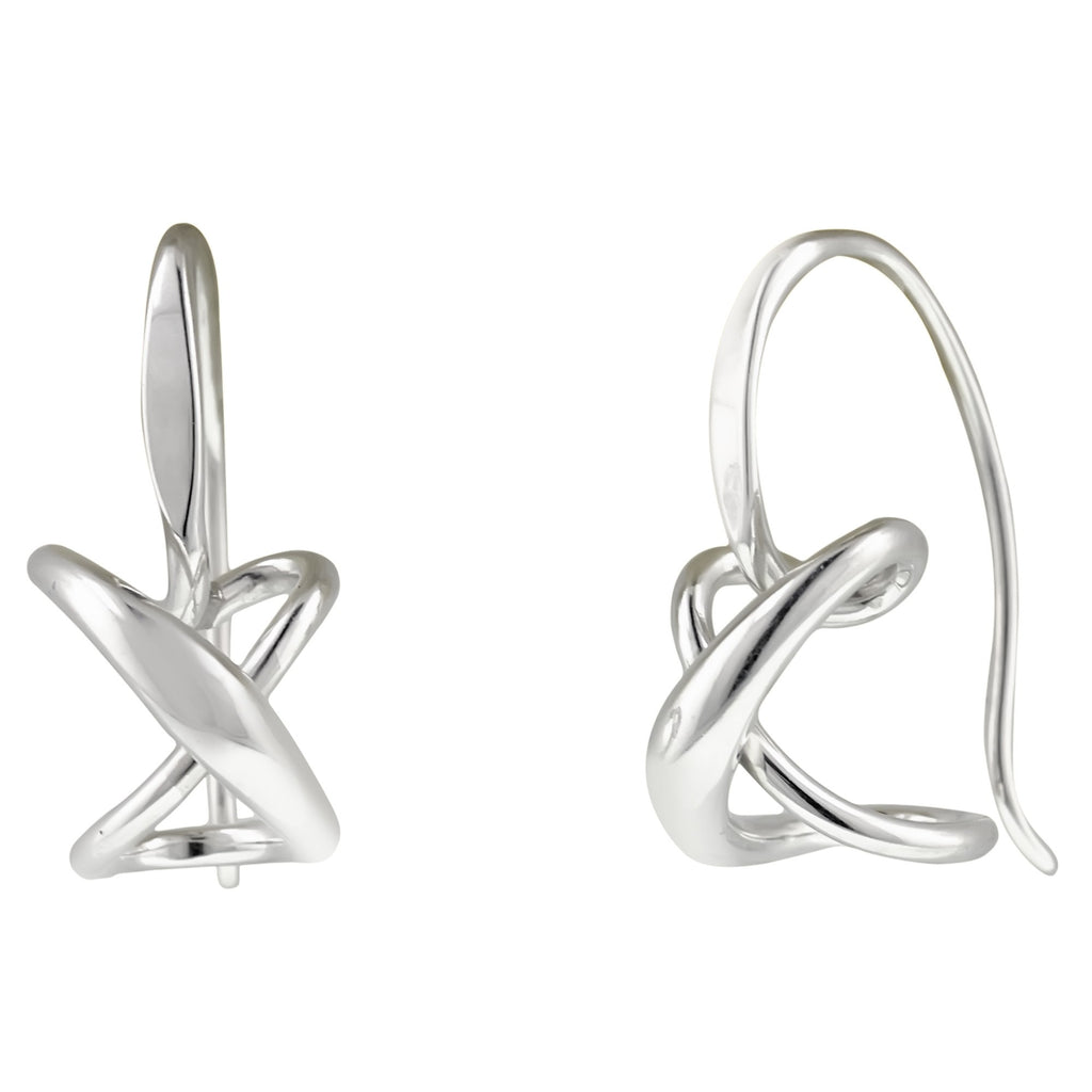 Ed Levin Sterling Silver Secret Heart Earrings