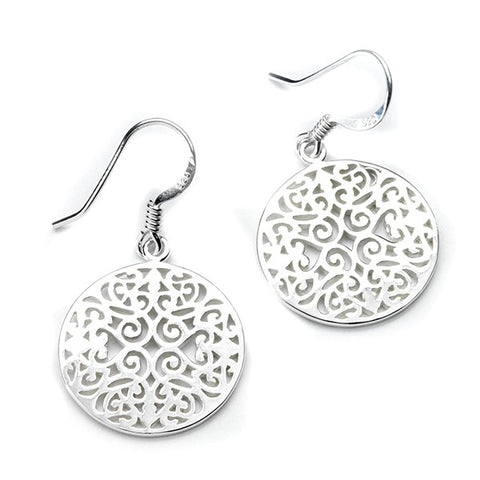 Southern Gates Small Round Original Scroll Earrings - Silverscape Designs