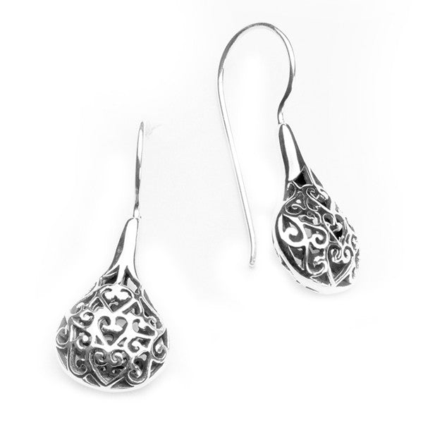 Southern Gates Oxidized Filigree Ball Earrings - Silverscape Designs