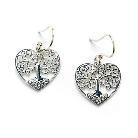 Southern Gates Tree Heart Earrings - Silverscape Designs