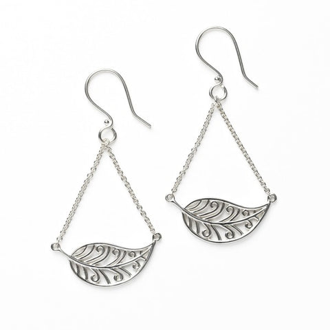 Southern Gates Horizontal Leaf Earring - Silverscape Designs