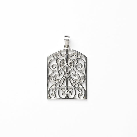 Southern Gates Terrace Filigree Pendant - Silverscape Designs