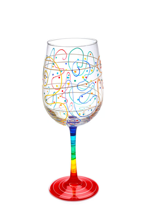 Mindy Sands Rainbow 18.5oz Tall Crystal Wine Glass