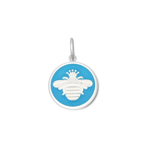 Turquoise Queen Bee Pendant in Sterling Silver 19mm - Silverscape Designs
