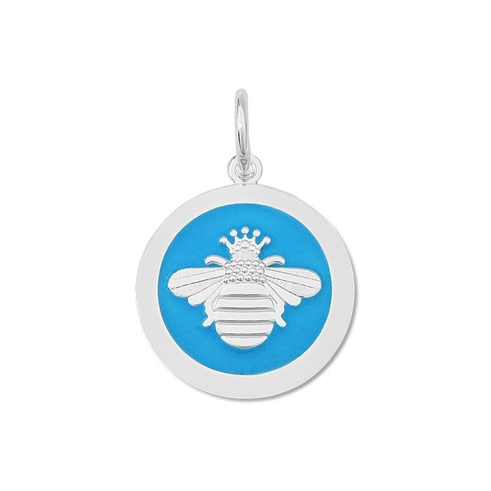 Turquoise Queen Bee Pendant in Sterling Silver