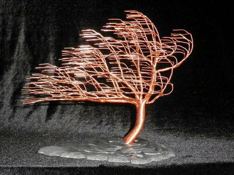 Copper Wind Swept Tree (Medium) - Silverscape Designs