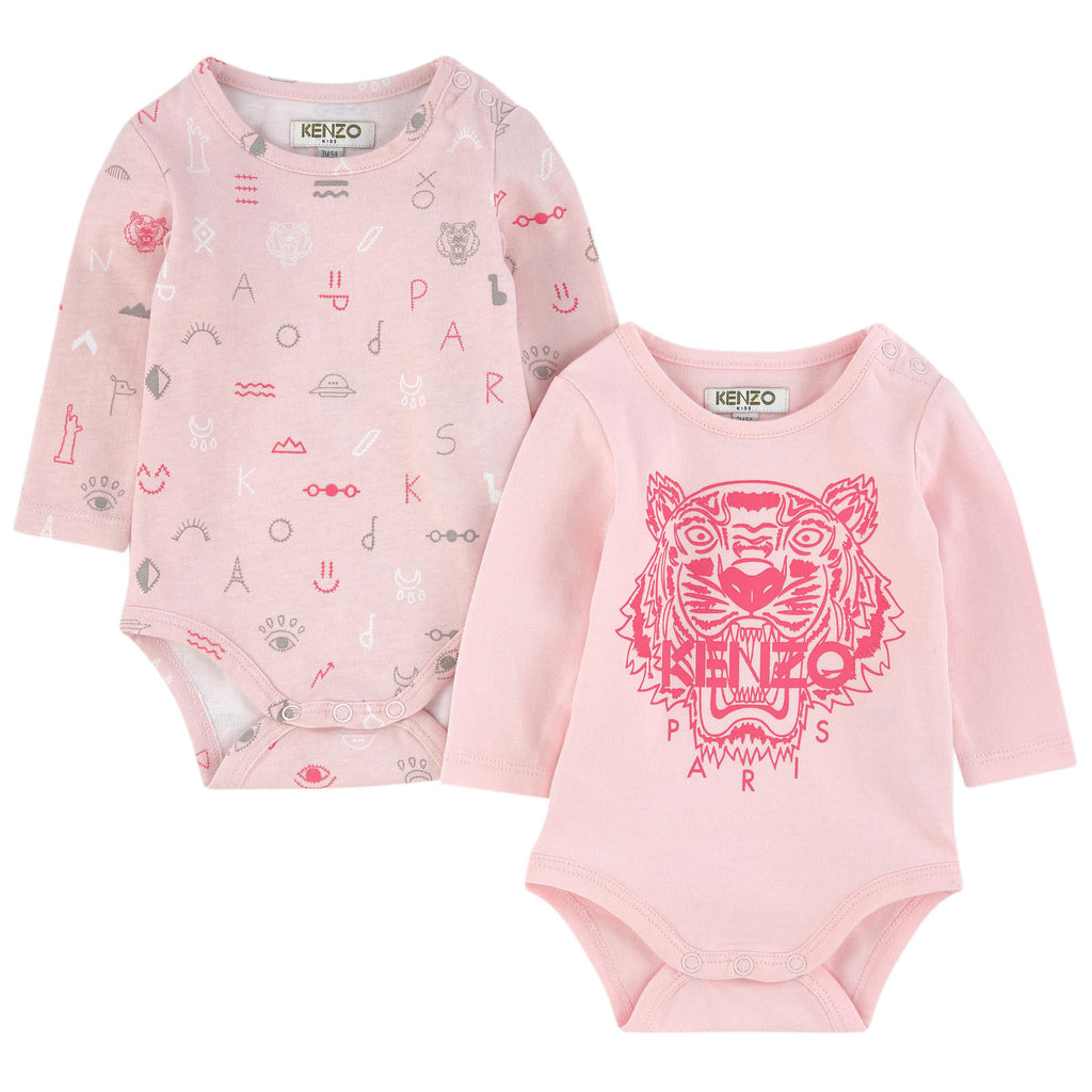 fcdccc973d4 Kenzo Pink Two Pairs of Onesies (2 Piece Gift Set) – MiniWee Kids