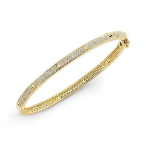 14KT Yellow Gold Diamond Spike Bangle