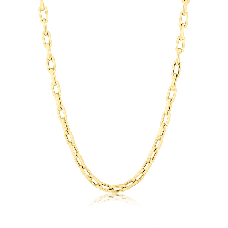 "14KT Yellow Gold 18"" Chain Link Lillian Necklace"