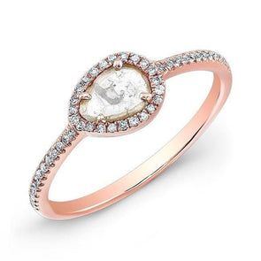 14KT Rose Gold Sasha Diamond Slice Ring