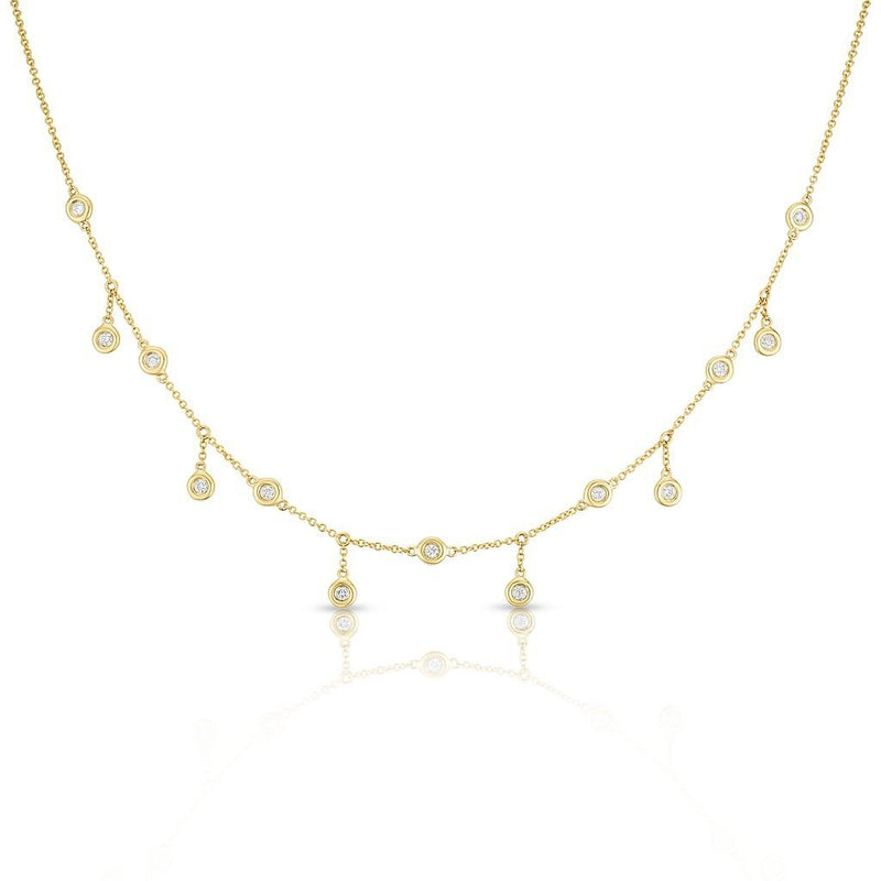 14KT Yellow Gold Diamond Evangeline Necklace