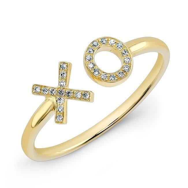 14KT Yellow Gold Diamond XO Ring
