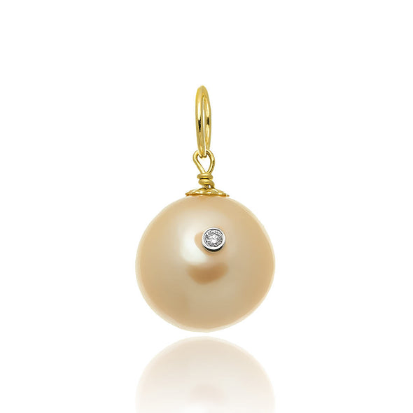 14KT Yellow Gold Grace Pearl Pendant Charm