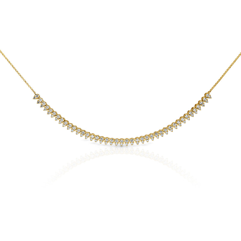 14KT Yellow Gold Diamond Bridgette Necklace