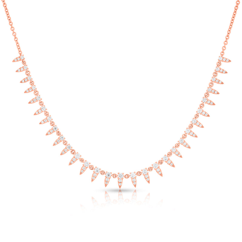 14KT Rose Gold Diamond Meghan Necklace