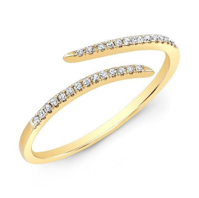 14KT Yellow Gold Diamond Open Embrace Ring