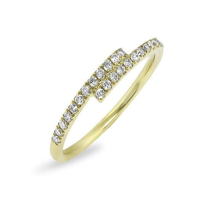 14KT Yellow Gold Diamond Ridge Ring