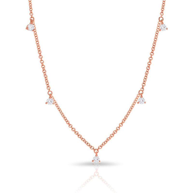 14KT Rose Gold Diamond Shanley Necklace