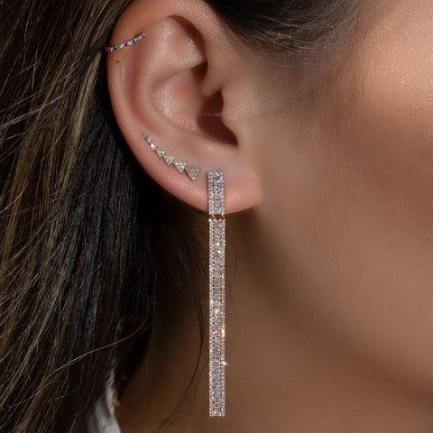 14KT Yellow Gold Diamond Leah Earrings