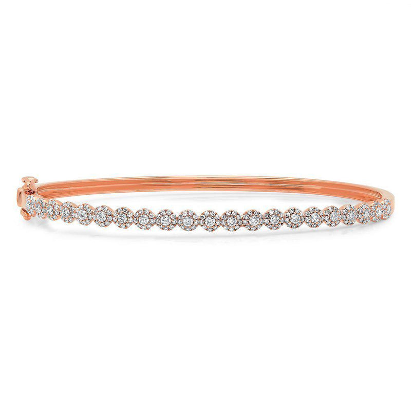 14KT Rose Gold Diamond Small Kira Bangle