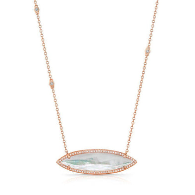 14KT Rose Gold Triple Diamond Chain Celeste Necklace