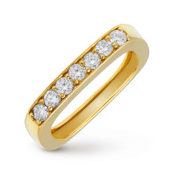 14KT Yellow Gold Diamond Faye Square Ring