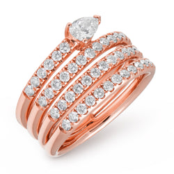 14KT Rose Gold Diamond Violetta Ring