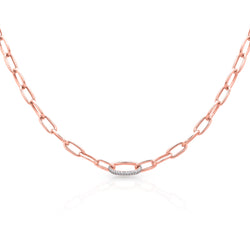 14KT Yellow Gold Diamond Luxe Janesse Chain Link Necklace