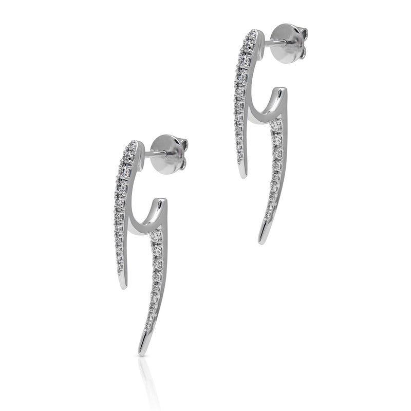 14KT White Gold Diamond Sasha Earrings