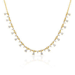 14KT Yellow Gold Diamond Constantine Necklace