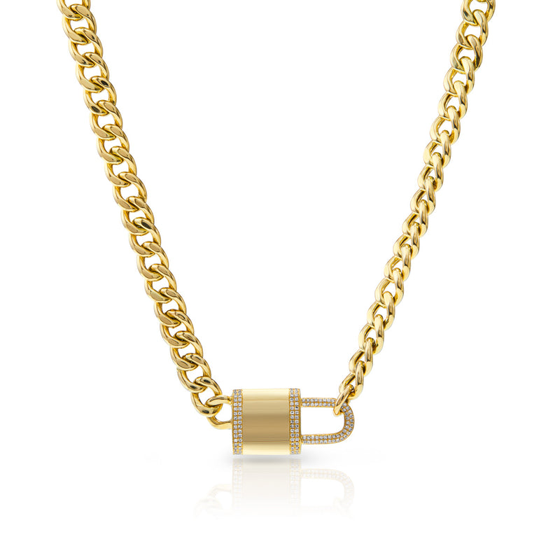 14KT Yellow Gold Diamond Lovelock Necklace