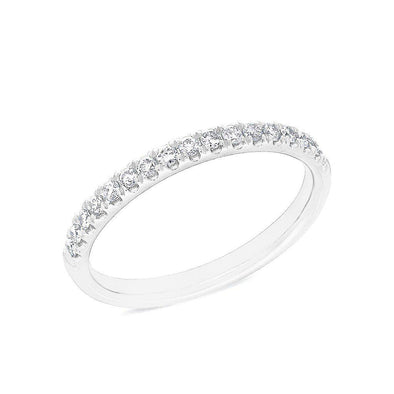 14KT White Gold Lauren Half Diamond Ring