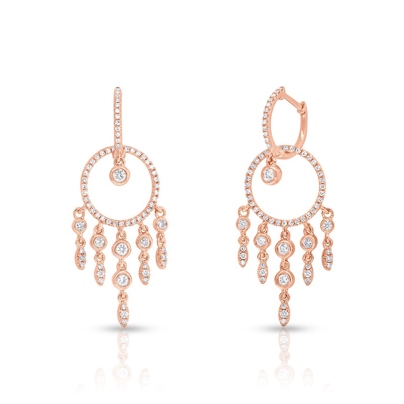 14KT Rose Gold Diamond Anika Earrings