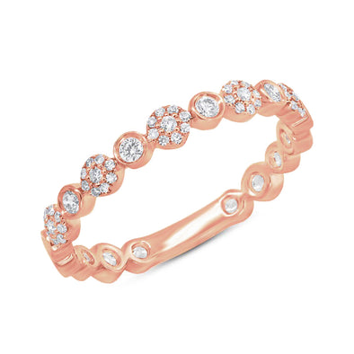 14KT Rose Gold Diamond Luxe Scarlet Ring